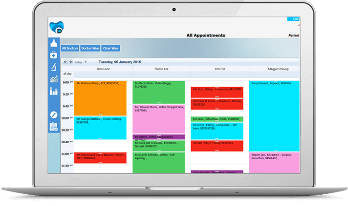 Dental appointments from dental management software